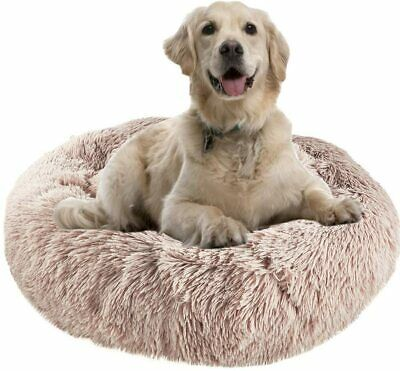 Cat Dog Bed For Large Medium Dogs Clearance 32 Machine Washable Round • 37.93£