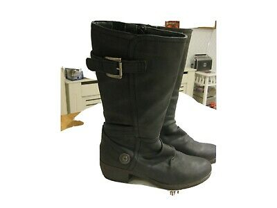 Ladies Black Pavers Warm Lined Boots Black Size 5 • 13£