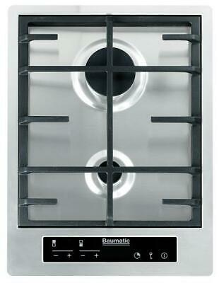 £299 • Buy Baumatic BHG420SS 38cm Premium-Line Touch Control Gas Hob In Stainless Steel