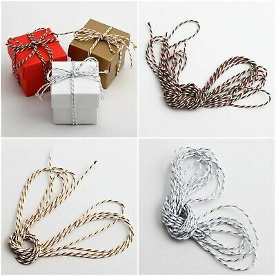 £5.75 • Buy Bakers Twine Cotton Ribbon 50 Metre Reel 2mm Wide Christmas Gift Wrapping Crafts
