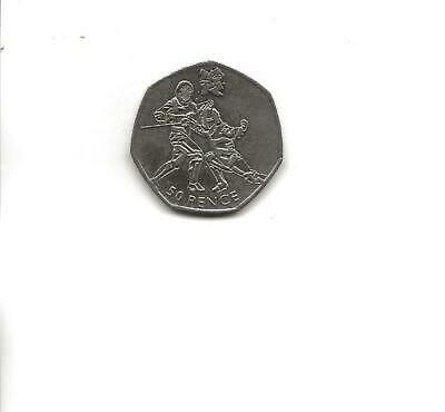 2011 London Olympics 2012 50p Fifty Pence Coin - Circulated • 1.28£