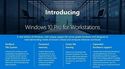 $ CDN375.98 • Buy Microsoft HZV-00054 Windows 10 Pro 64-bit For Workstations - 1 License - OEM