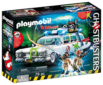 Playmobil Ghostbusters 9220 Ecto-1 With Light And Sound Effects For Children • 44.01£