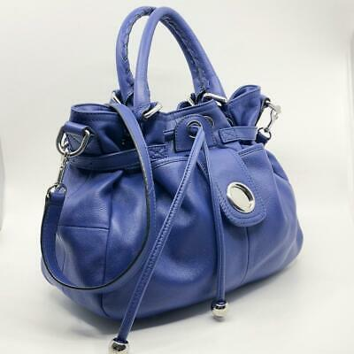 AU180 • Buy Oroton Blue Leather Drawstring Handbag
