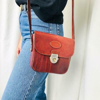 AU120 • Buy Oroton Rare Vintage Brown Leather Crossbody Bag