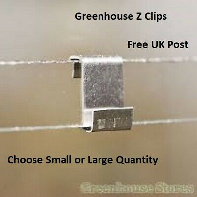 Greenhouse Glass Z Clips Glass Glazing Clips St Steel FREE POSTAGE Spares Parts • 4.20£