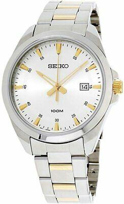 Mens Seiko Watch With White Dial And Silver And Gold Two Tone Strap SUR211P1 • 79.99£