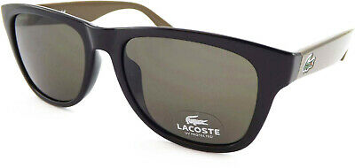 LACOSTE Sunglasses Shiny Black-Brown With Dark Brown Lenses L734 001 • 56.99£