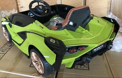 £219.90 • Buy Deluxe Edition 4WD Official Lamborghini Sian 12V Kids Electric Ride On Car Green