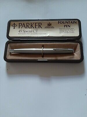 Vintage Parker 45 Special Ct Fountain Pen Boxed Immaculate  • 9.99£