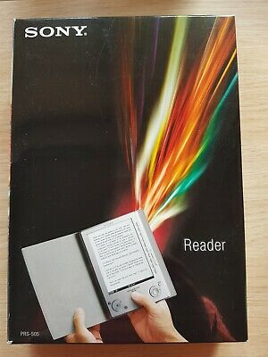 Sony PRS-505  Digital Book Reader, 6in - Bundle With Free Black Leather Case • 40£