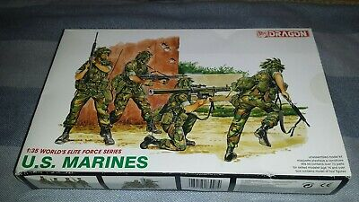 Excellent Dragon  Elite Forces  1/35th Modern U.S. Marines Figure Kit (#3007). • 5£