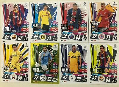 £1.25 • Buy Match Attax Extra 2020/21 Squad Mega TS POS AK CP Squad Base Captain Sub Sets