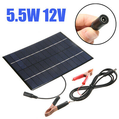 AU17.19 • Buy Mini 5.5W 12V Car Boat Auto Camp Solar Panel Power Module Battery Charger