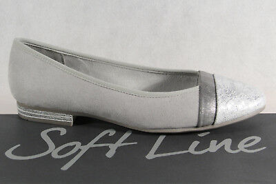 Soft Line By Jana Women's Ballerina Court Shoes Slippers Grey Width H New • 49.49£