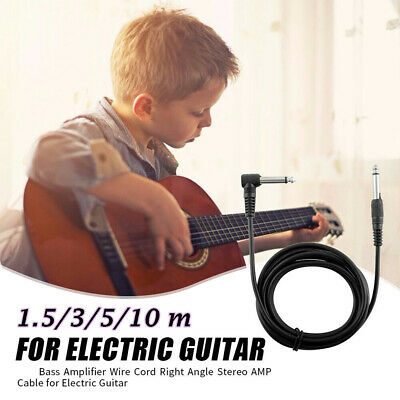 $ CDN5.81 • Buy Amp Cord Adapter Musical Instrument Electric Guitar Amplifier Cable Right Angle