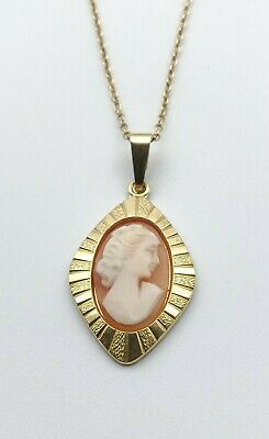 $ CDN53.13 • Buy ROMI Rolled Gold Cameo Pendant With Gold Tone Chain Aurea Vintage Jewellery