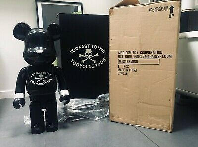 $1790 • Buy Medicom Be@rbrick 1st Mastermind 1000% Toy Bearbrick Mint Japan Black
