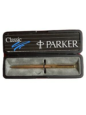 Gold Parker Ballpoint Pen With Box • 10£