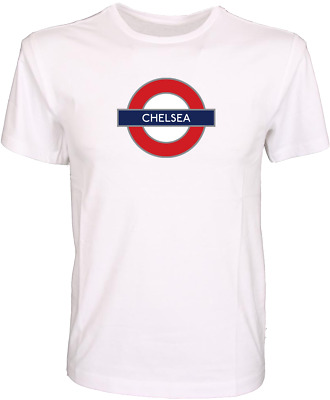 £9.49 • Buy Football Club Chelsea London Underground Sign Quality T-shirt Gift S-xl
