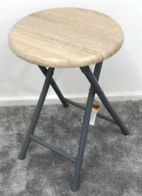 £14.99 • Buy New Folding Compact Wooden Stool Seat Chair Breakfast Bar Seating Home Office