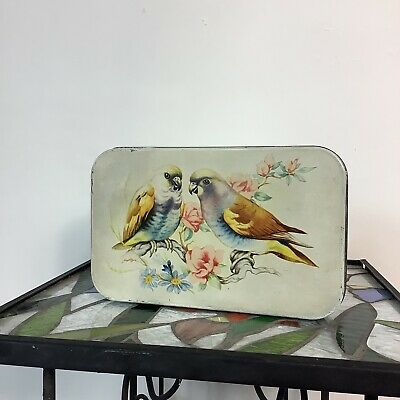 Antique Budgies Confectionary Sweet Tin • 11.99£