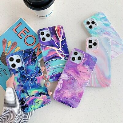 AU9.99 • Buy Case For IPhone 12 11 Pro MAX XR 8 7 Plus ShockProof Marble Phone Silicone Cover