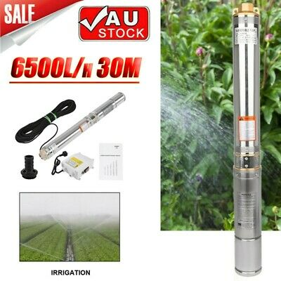 AU209.98 • Buy 1HP 4  Submersible Bore Water Pump Well Irrigation Stainless Steel 6500L/h 30M .