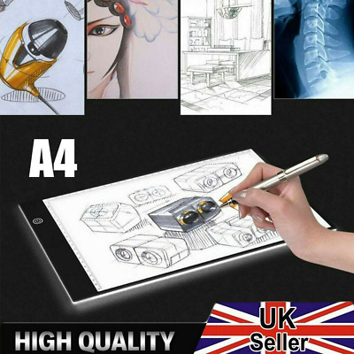 £8.89 • Buy A4 Artist LED Drawing Board Tracing Table Stencil Tattoo Display Light Box Gifts