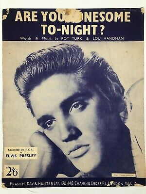 £4.95 • Buy Are You Lonesome Tonight ? - Elvis Presley Sheet Music