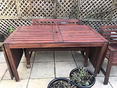 Ikea Outdoor Extendable Table And Seating For 4 • 50£