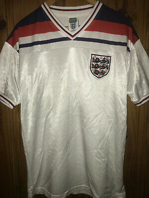 England Replica Football Shirt 1982 World Cup Score Draw Size Large  • 6.99£