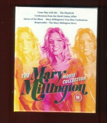 MARY MILLINGTON Movie Collection 5 X  BLU-RAY + Book SEALED  COME PLAY WITH ME.. • 48.99£