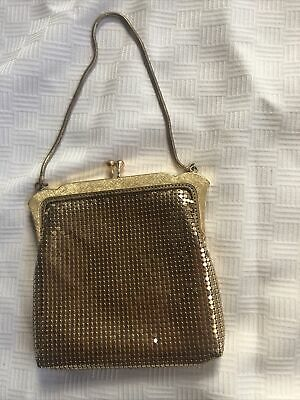 AU9.50 • Buy Vintage Oroton Gold Mesh Handbag Evening Bag