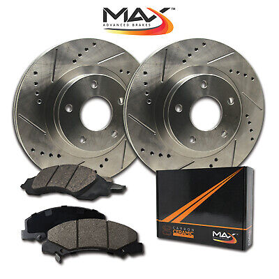 $ CDN129.74 • Buy 2013 VW CC (See Desc.) Slotted Drilled Rotor W/Ceramic Pads F