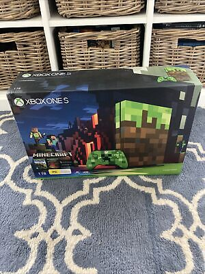 AU599 • Buy NEW SEALED XBox One S Minecraft Limited Special Edition Console