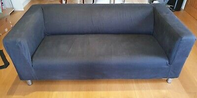 Ikea Klippan 2-seat Sofa (180 Cm Wide), With Dark Blue Removable Cover. • 30£