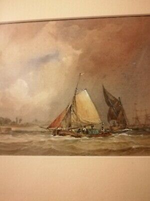 Watercolour Painting Sailing Boats On Rough Seas • 30£