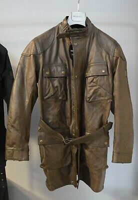 £499 • Buy NEW Belstaff Gold Label Ladies Waxed Leather Jacket Hyena Brown 44 / Large / 56
