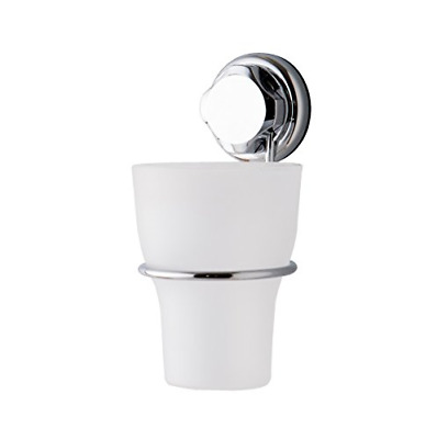 Compactor Bestlock Suction No Drilling Wall Mountable Toothbrush Holder With Cup • 6.36£