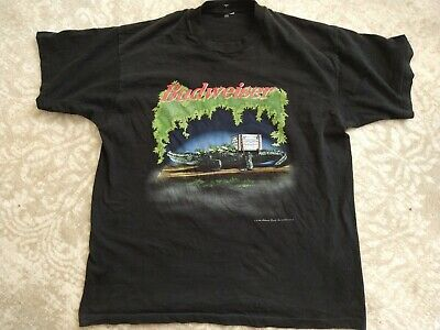 $ CDN45.37 • Buy Vintage 1996 Budweiser Frogs T Shirt SZ L/XL Double Sided Distressed Beer