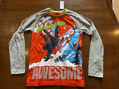 Blue Zoo Boys Snowboarder Long Sleeved T Shirt Age 8-9 New • 3£
