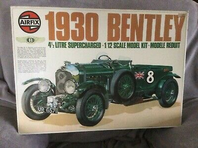 Airfix 1930 Bentley 4 1/2 Litre Supercharged 1/12 Scale Model Kit 20440-8 • 80£