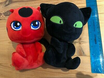 Miraculous Ladybug Cat Plagg & Tikki Plush Toys CatNoir Plush 8 Inches • 7.50£