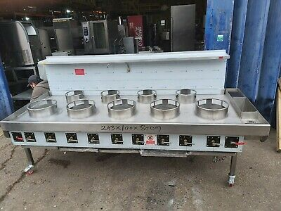 £4995 • Buy Chinese Wok Cooker 9 Burners Nat Gas Wok Cooker Commercial Indian Wok BRAND NEW