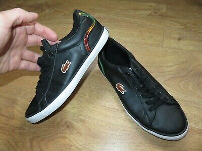 Lacoste Lerond 317 Black Leather Women`s Girls Trainers Shoes Size UK 3 EUR 35.5 • 20£
