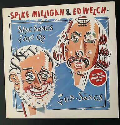 SPIKE MILLIGAN ED WELCH Sing Songs From Q8 1979 UK Vinyl LP EXCELLENT CONDITION • 17£