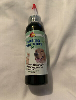 Fresh Breath Plaque Remover Gel 5.6ozs Vet Approved. For Dogs & Cats. • 7.16£