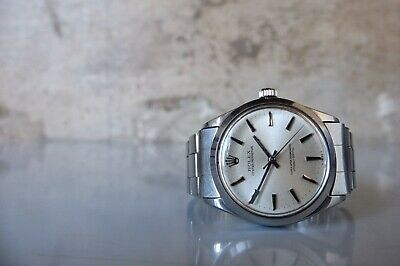 $ CDN3281.50 • Buy Vintage 1966 ROLEX Oyster Perpetual 1002 SS 34mm Automatic Silver Dial Riveted
