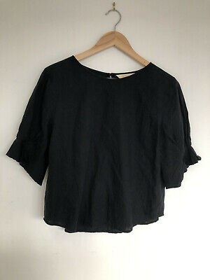 AU49 • Buy GORMAN Black Linen Top 10